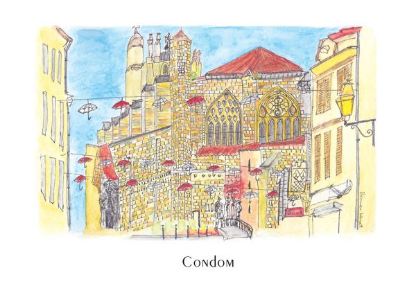 Coloured cathedral watercolour